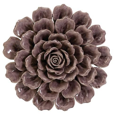 Aurora Flower Decorative Wall Sculpture - Purple : Target