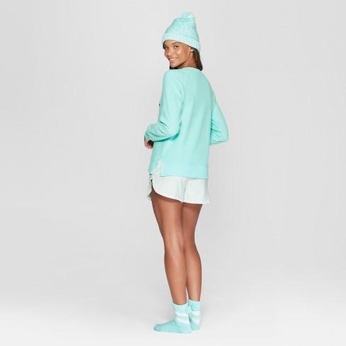 df94295d19 Women s Striped Joyful 4pc Pajama Set - Xhilaration™ Blue   Target