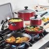 Farberware Cookstart 15pc Aluminum Nonstick Cookware Set Red - image 2 of 4
