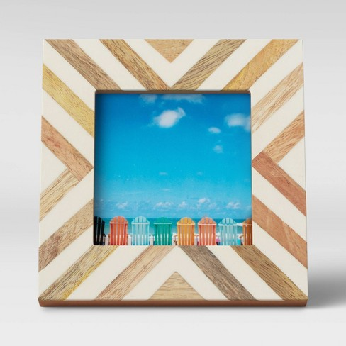 """4"""" x 4"""" Resin and Wood Photo Frame - Opalhouse™ - image 1 of 4"""