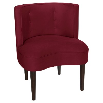 Clary Curved Back Accent Chair Velvet Berry - Opalhouse™