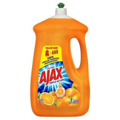 Ajax Ultra Triple Action Liquid Dish Soap Orange - 90 fl oz
