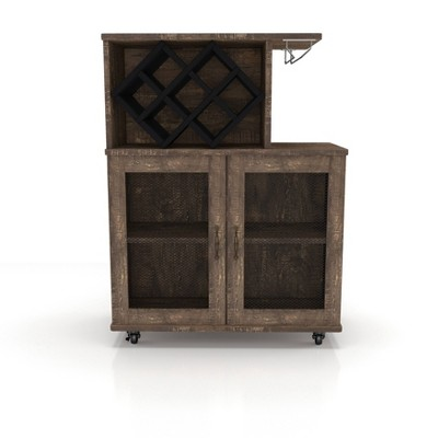 Morse Farmhouse Mobile Wine Cabinet Reclaimed Oak - HOMES: Inside + Out