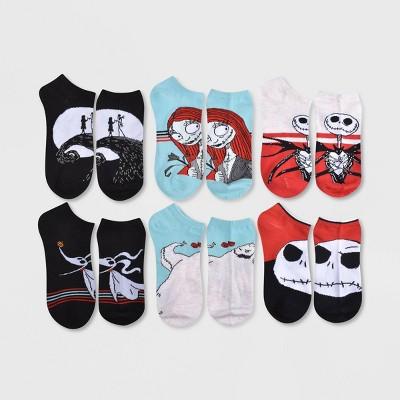 Women's Nightmare Before Christmas Jack & Friends 6pk Low Cut Socks - Black/Blue/Red 4-10