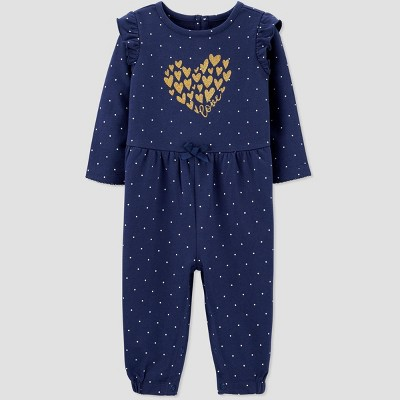 Baby Girls' Heart Romper - Just One You® made by carter's Navy 6M