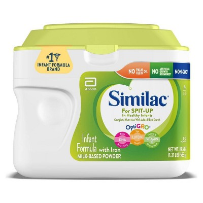 Similac for Spit Up Non-GMO Infant Formula with Iron Powder - 19.5oz