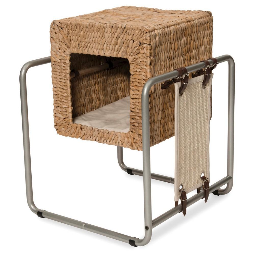 Vesper V-Cube Banana Leaf Cat Furniture, Green