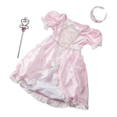 Melissa & Doug Princess Role Play Costume Set (3pc)- Pink Gown, Tiara, Wand