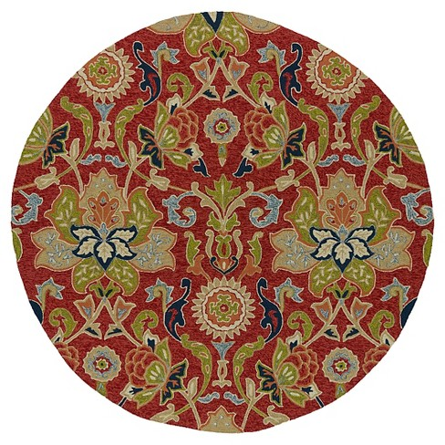 Rugs 6' ROUND Kaleen Rugs Red - image 1 of 3