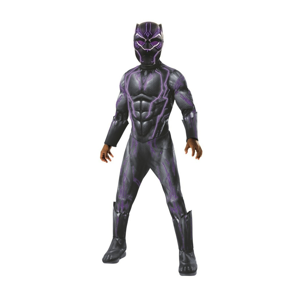 Boys' Marvel Black Panther Light Up Halloween Costume S, Multicolored