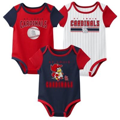 MLB St. Louis Cardinals Baby Boys' 3pk Bodysuit Set