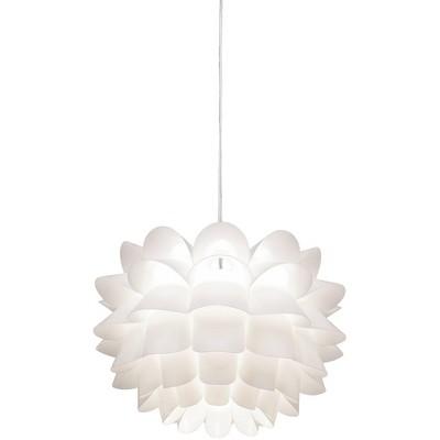 """Possini Euro Design White Flower Pendant Light 19 1/2"""" Wide Modern Fixture for Kitchen Island Dining Room"""