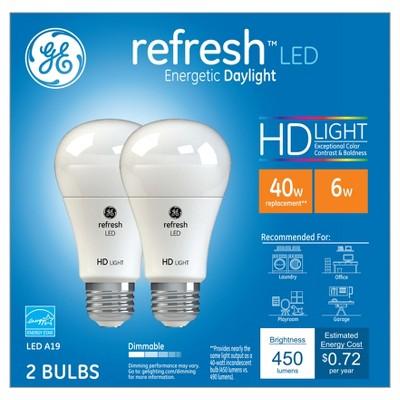 GE LED 40Watt Aline Light Bulb (2Pk)- Daylight
