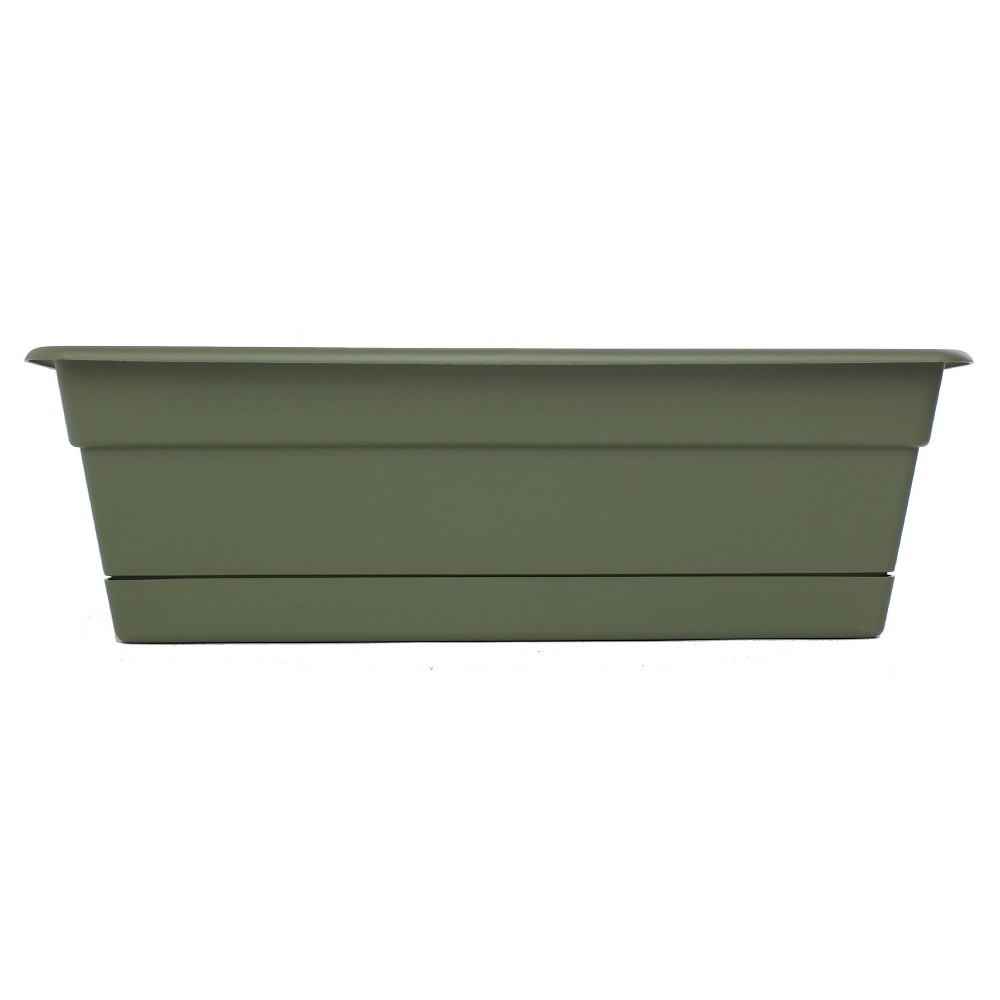 "Image of ""18"""" Dura Cotta Rectangular Window Box - Living Green - Bloem"""