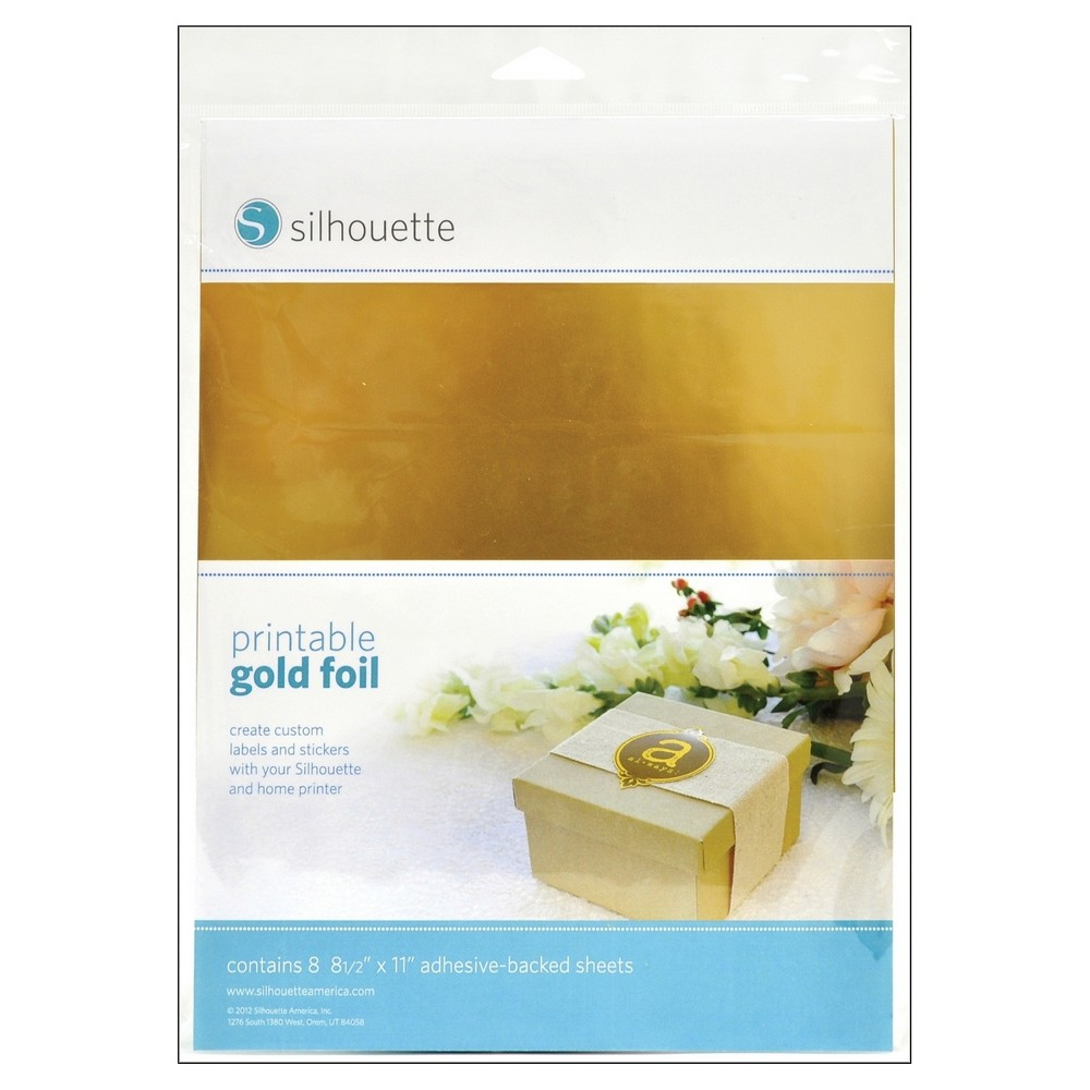 Image of Silhouette Printable Adhesive Foil - Gold