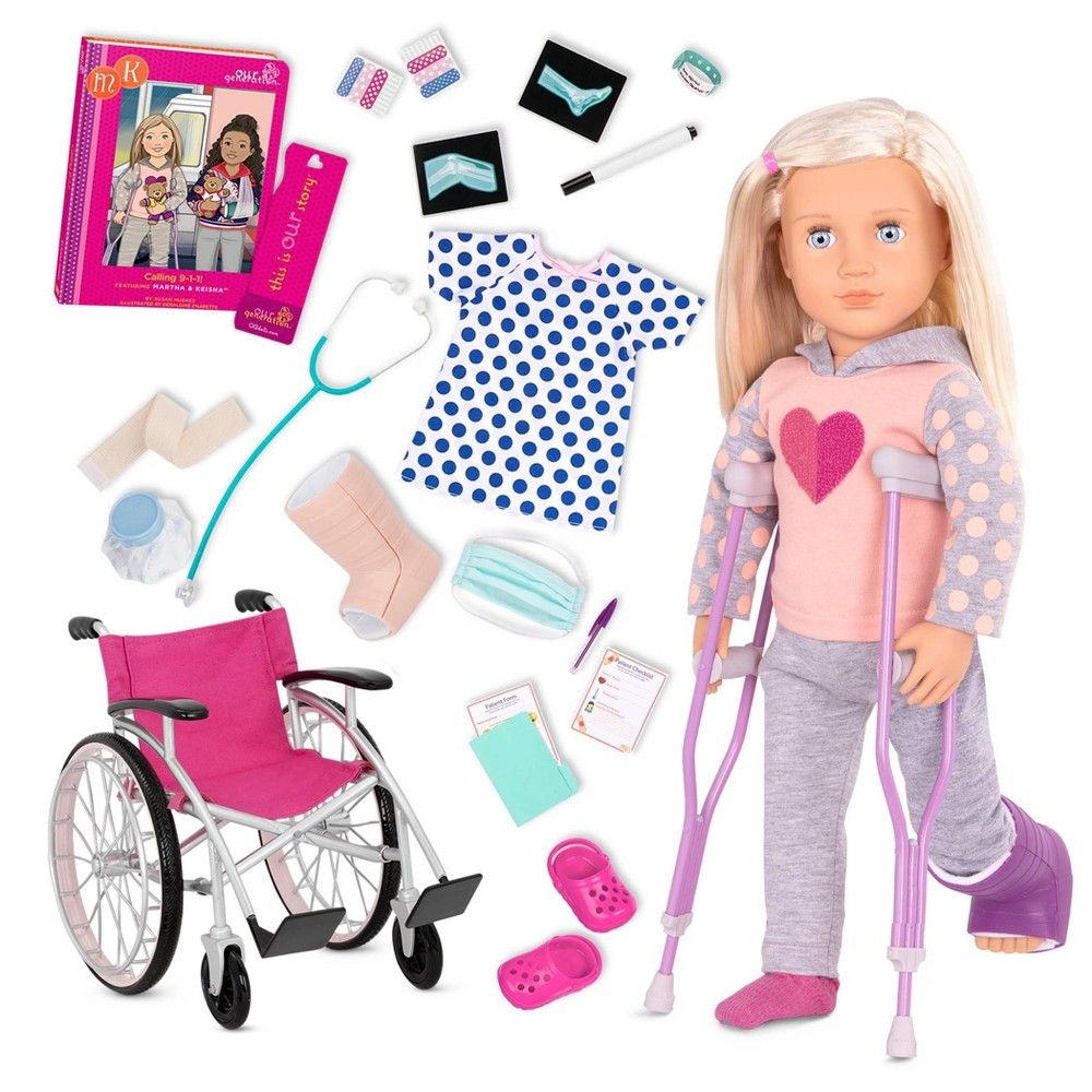 Our Generation 18 34 Doll With Wheelchair Martha 38 Heals