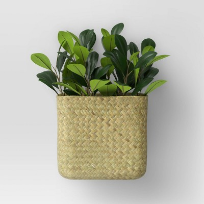 Willow Woven Base Wall Mount Planter Dark Green - Threshold™