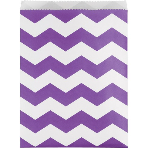 10ct Creative Converting Amethyst Purple Chevron Stripe Treat Bags - image 1 of 1