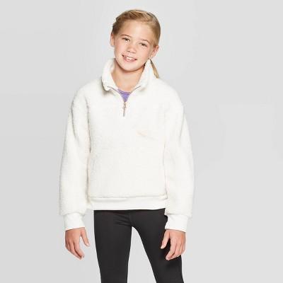Girls' Sherpa Fleece 1/4 Zip Pullover   C9 Champion® by C9 Champion