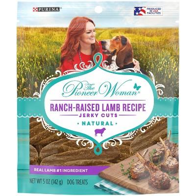 Purina Pioneer Woman Ranch Life Recipe Ranch-Raised Lamb Jerky Cuts Dog Treats - 5oz