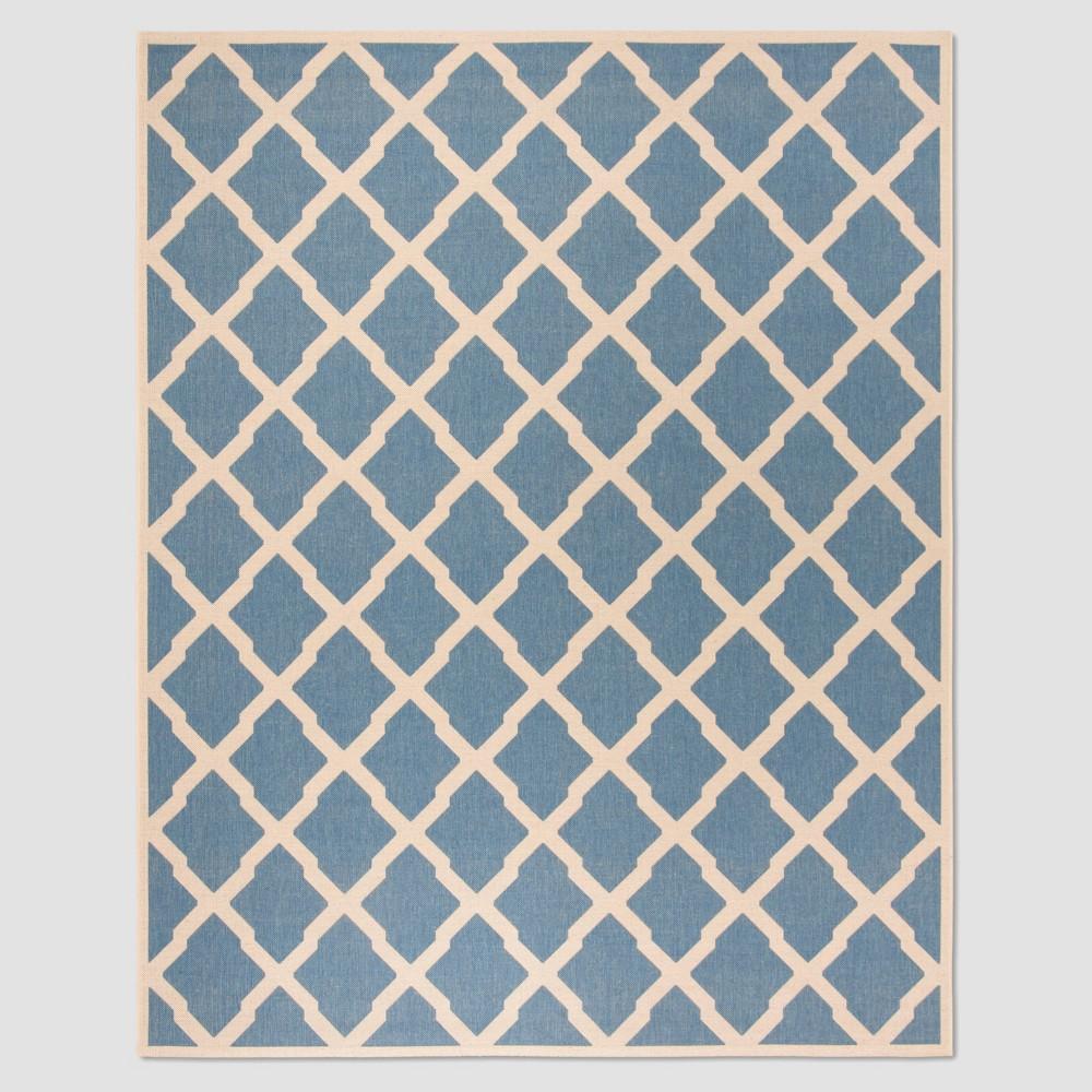 Leonida 8'6 x 12' Outdoor Rug Blue/Cream - Safavieh, Blue Off-White