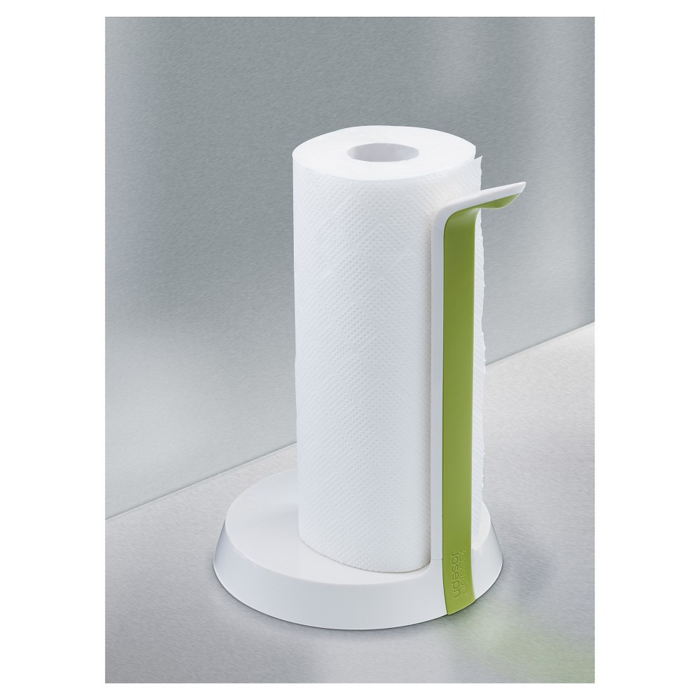 Image of Joseph Joseph Easy-Tear Paper Towel Holder with Tearing Blade, White