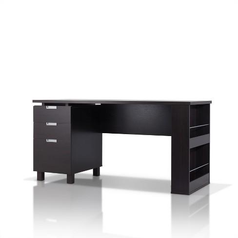 Abella Office Desk Espresso Homes, Espresso Office Desk