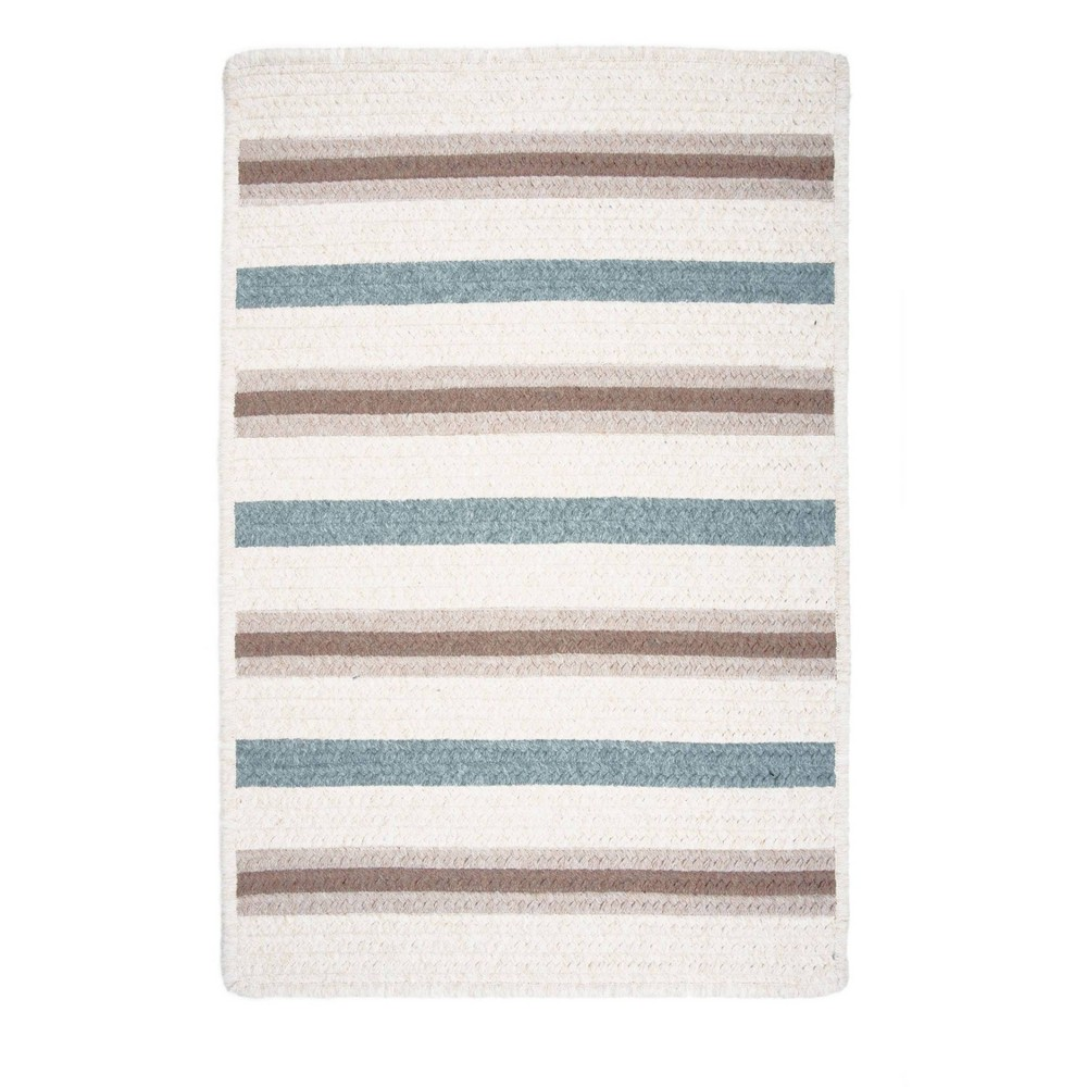 4 39 x4 39 Uptown Stripe Braided Area Rug Colonial Mills