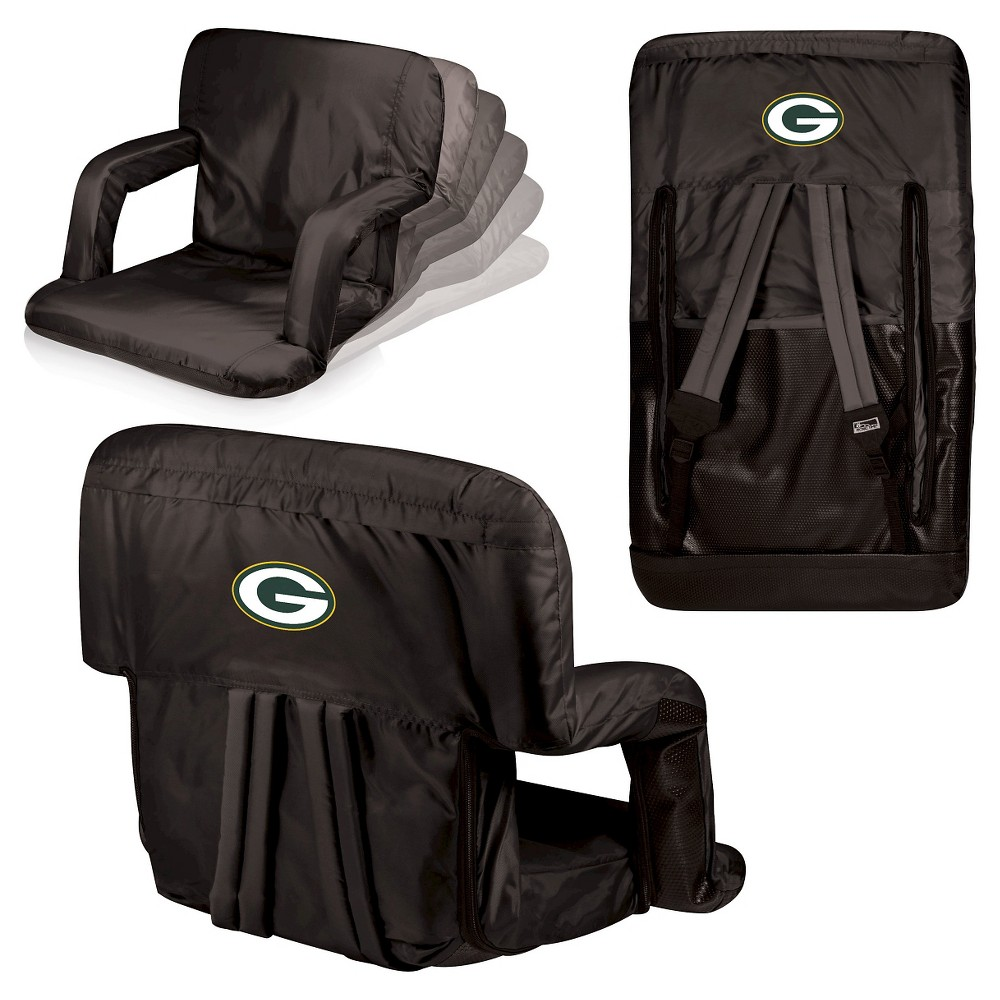 Green Bay Packers Ventura Seat Portable Recliner Chair By Picnic Time