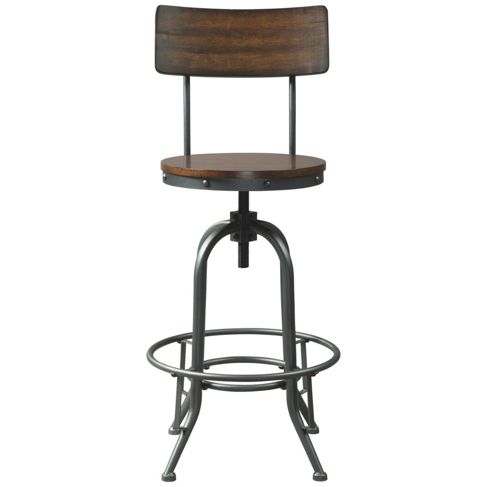 Set Of 2 Odium Pub Height Barstools Brown Signature Design By Ashley