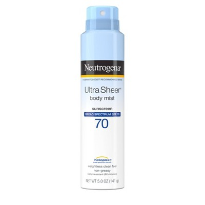 Sunscreen & Tanning: Neutrogena Ultra Sheer Body Mist