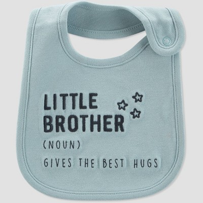 Baby Boys' 'Little Brother' Bib - Just One You® made by carter's Blue/Gray