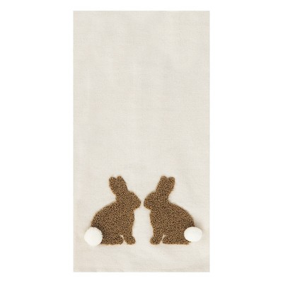 C&F Home Natural Easter Bunny Embroidered Cotton Kitchen Towel
