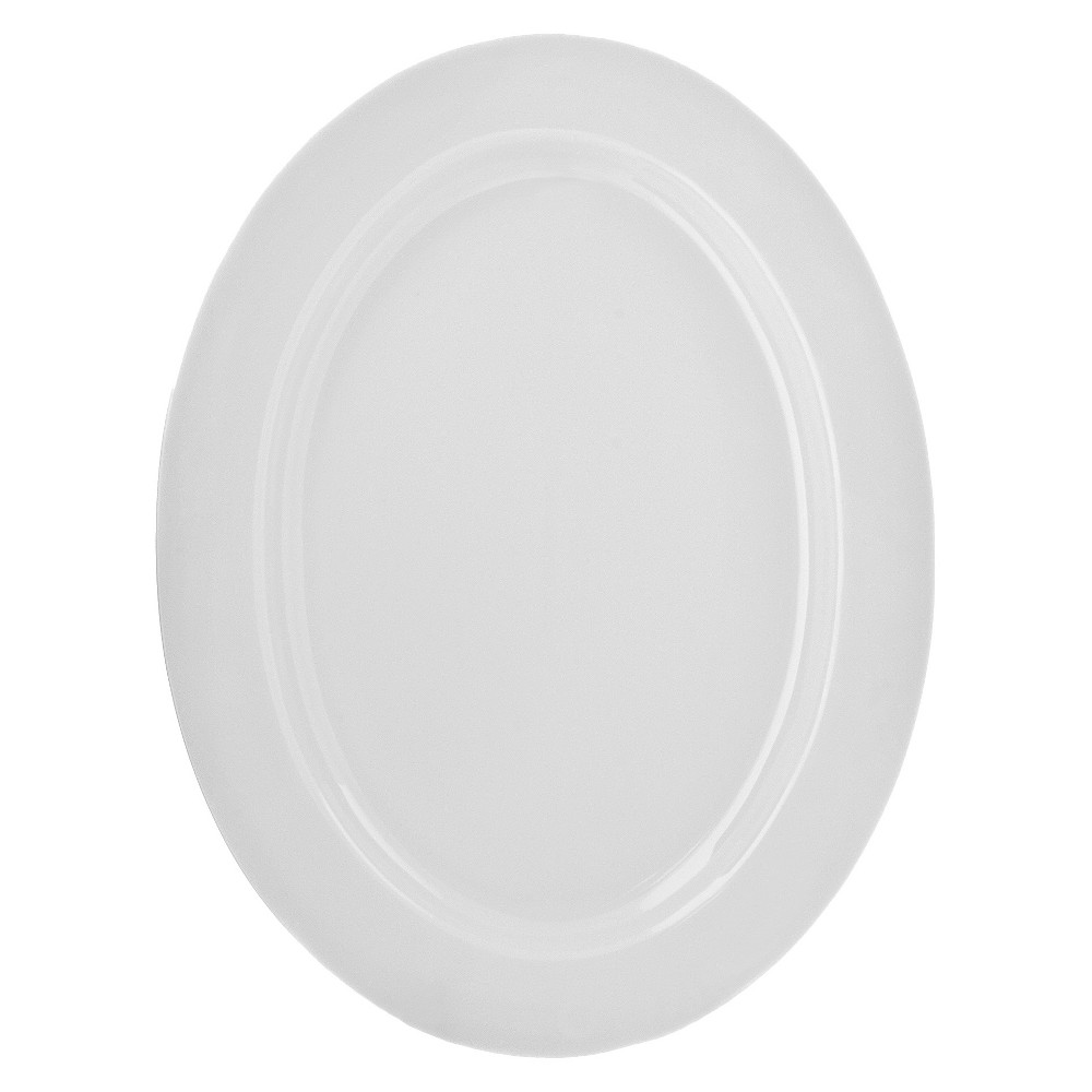 Image of 10 Strawberry Street Royal Oval Platter - White