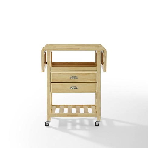 Bristol Double Drop Leaf Kitchen Cart Natural - Crosley - image 1 of 4