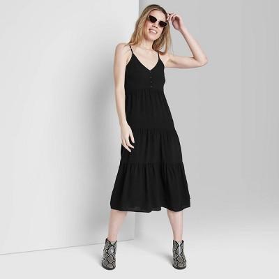 Women's Sleeveless Tie-Back Tiered Dress - Wild Fable™