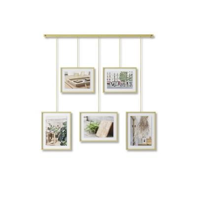 Ex hibit Gallery Multi Photo Display Matte Brass - Umbra