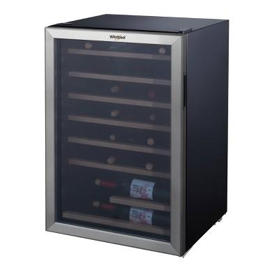 Whirlpool 40 Bottle 4.5 Cu. Ft Wine Refrigerator - Stainless Steel WHW45S