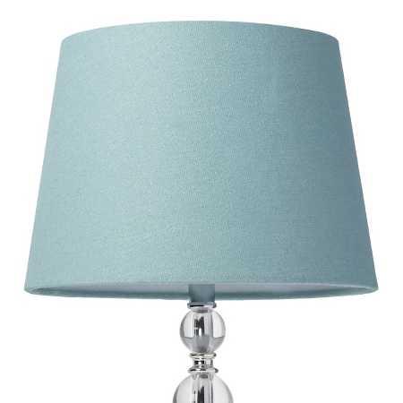 Linen Lamp Shade Ancient Aqua Small Threshold
