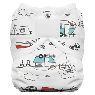 Thirsties Duo Wrap Hook & Loop Diaper, Size One - Happy Camper