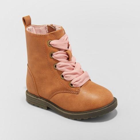 f5519e0e29f4 Toddler Girls  Cherish Lace Up Boots - Cat   Jack™   Target