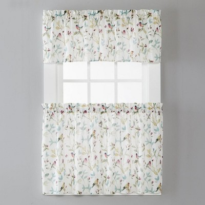 """SKL Home Aviary Watercolor Printed Window Valance with .75"""" Rod Pocket 54 X 13"""", Pastels"""