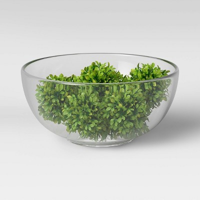 """2.5"""" x 2.5"""" Set of 9 Artificial Boxwood Fillers - Threshold™"""