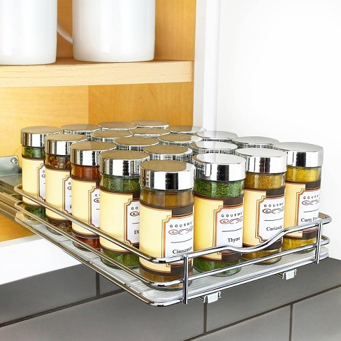 """Lynk Professional 8"""" Wide Slide Out Spice Rack Upper Cabinet Organizer - image 1 of 4"""