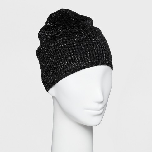 Women s Single Layer Ribbed Beanie With Lurex - Wild Fable™   Target 7888c4f89ea