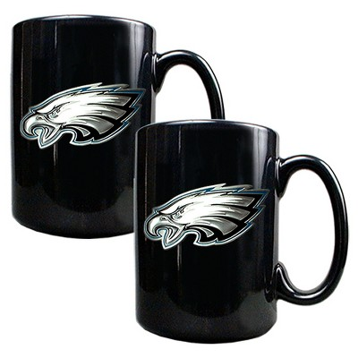 NFL 2pk 15oz Black Coffee Mug Set