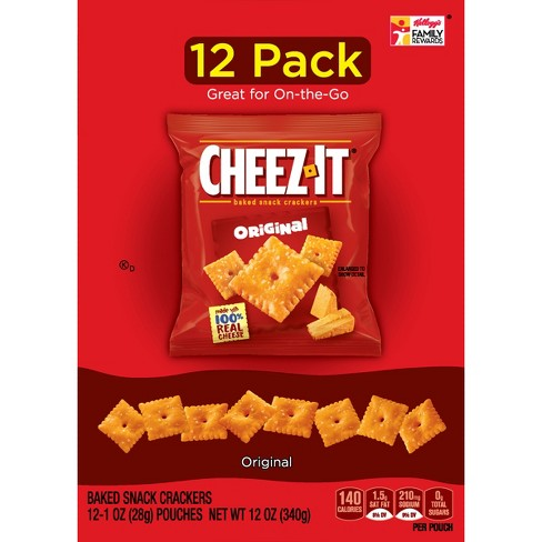 Cheez-It Original Baked Snack Crackers - 1oz - 12ct - image 1 of 7