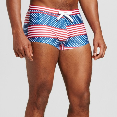 Men's Americana Square Cut Swim Trunks - Evolve By 2(X)Ist Red - image 1 of 3