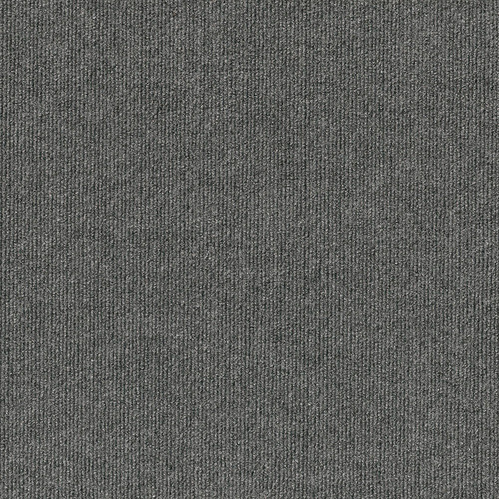 10pk Rib Extreme Carpet Tiles Gray