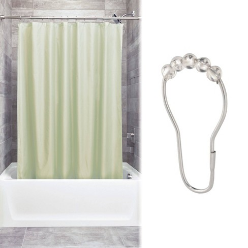 Shower Curtain Liner With Rollerz Celery Green Idesign